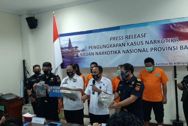 Press Release Pengungkapan Kasus BNN Provinsi Bali