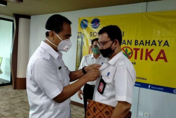 Kepala BNNP Bali Menjadi Narasumber dalam kegiatan Diseminasi Informasi P4GN melalui Insert Konten kepada karyawan AirNav Indonesia