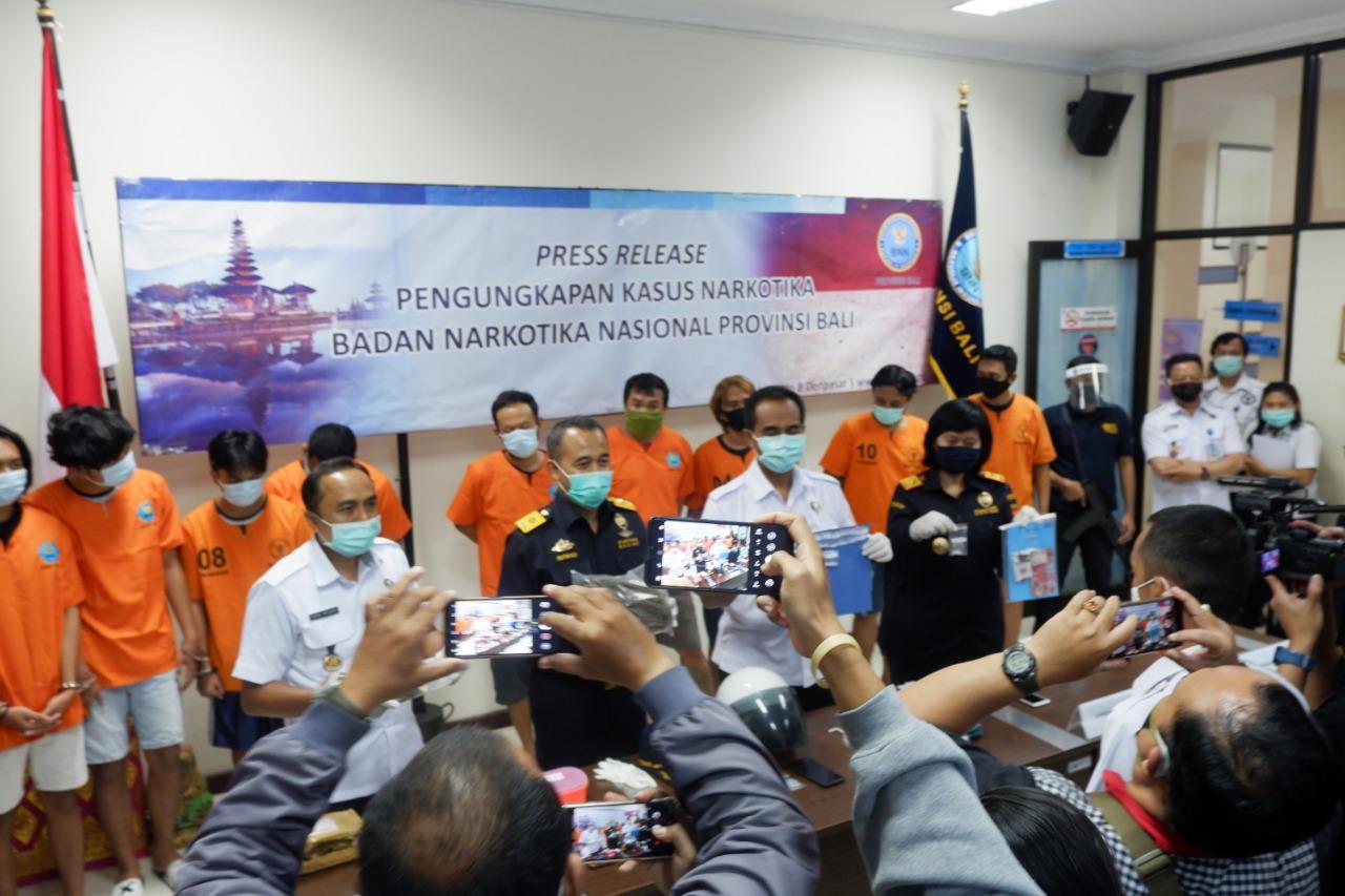 PRESS RELEASE PENGUNGKAPAN KASUS BNNP BALI BULAN JUNI 2020