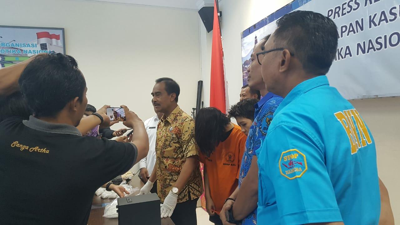 Press Release Pengungkapan Kasus Tindak Pidana Narkotika Bulan Februari 2020