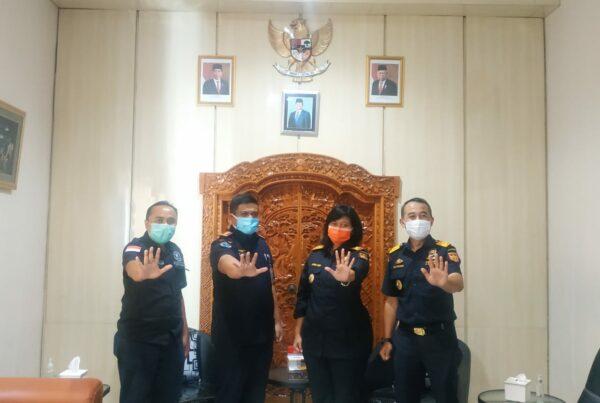 Kegiatan Audiensi Kabid Pemberantasan BNNP Bali bersama Para Stakeholder di Pelabuhan Benoa, Denpasar Bali.