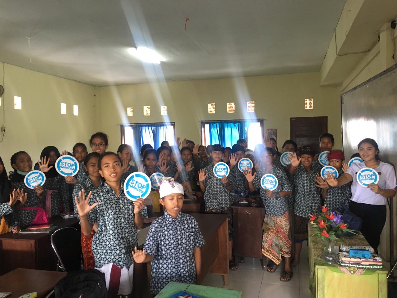 Desiminasi Informasi P4GN dengan para siswa