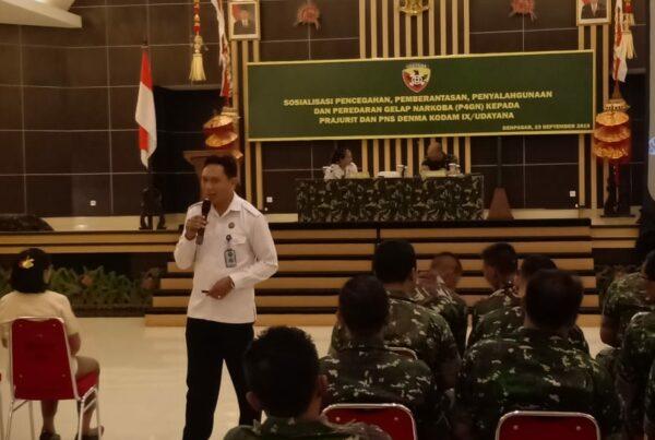 Sosialisasi Bahaya Penyalahgunaan Narkoba dalam rangka HUT TNI Ke 74