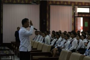 Sosialisasi Bahaya Narkoba dlm rangka pembinaan sikap dasar profesi (PSDP) bagi mahasiswa/i Sekolah Tinggi Pariwisata Bali Internasional (STPBI) dan Sekolah Perhotelan Bali (SPB) TA 2019/2020