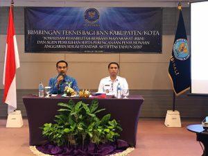 Bimbingan Teknis Bagi BNN Kabupaten/Kota terkait Rehabilitasi Berbasis masyarakat dan Agen Pemulihan