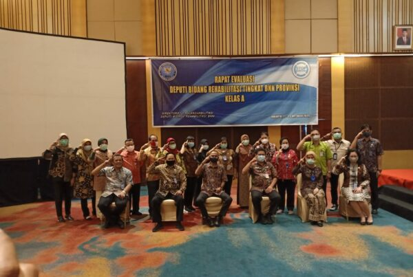 Rapat Evaluasi Deputi Bidang Rehabilitasi Tingkat BNN Provinsi Kelas A