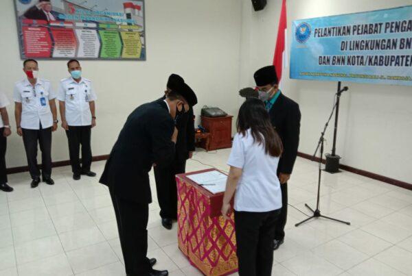 BNNP Bali Laksanakan Pelantikan Dan Pengambilan Sumpah Jabatan untuk Kepala BNN Kabupaten Karangasem