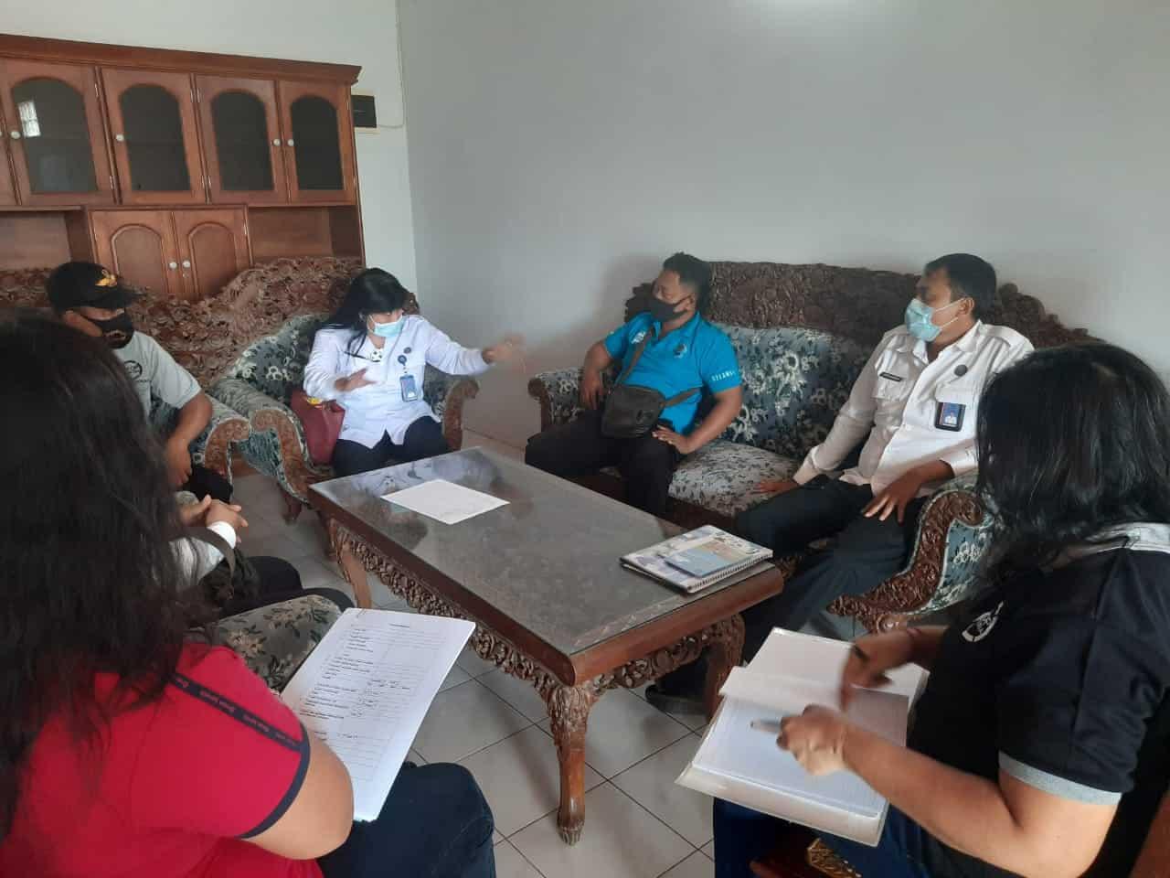 Monitoring Dan Evaluasi Pelaksanaan Kegiatan PBM di Desa Pemogan.