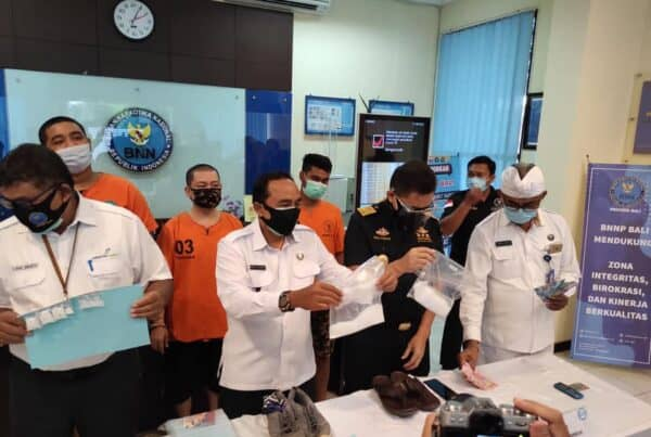 Press Release Pengungkapan Kasus Tindak Pidana Narkotika BNN Provinsi Bali