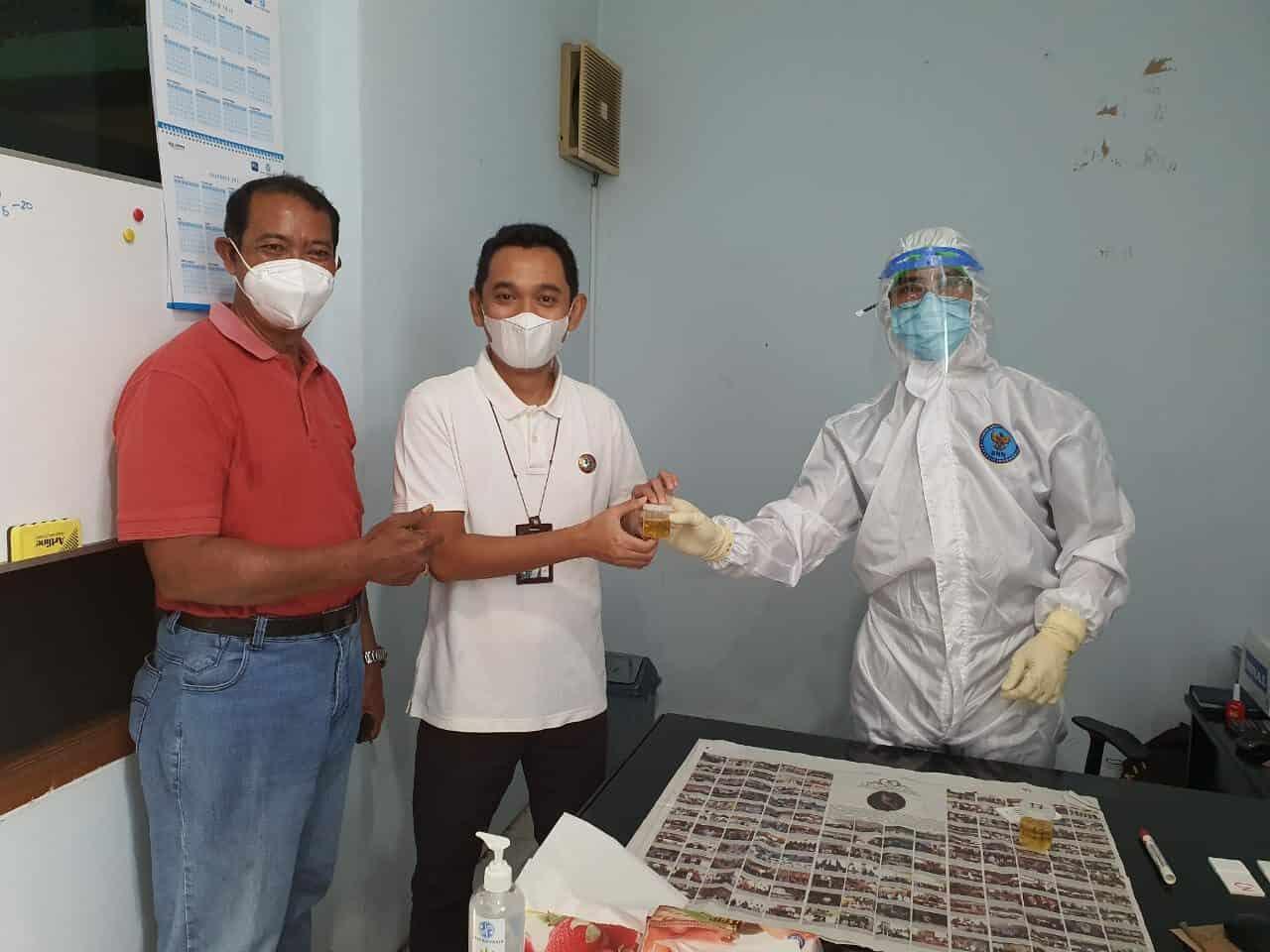 PT. JASA RAHARJA BALI Melaksanakan Tes Urine, Untuk Mewujudkan Lingkungan Kantor Pemerintah Bersih Dari Narkoba
