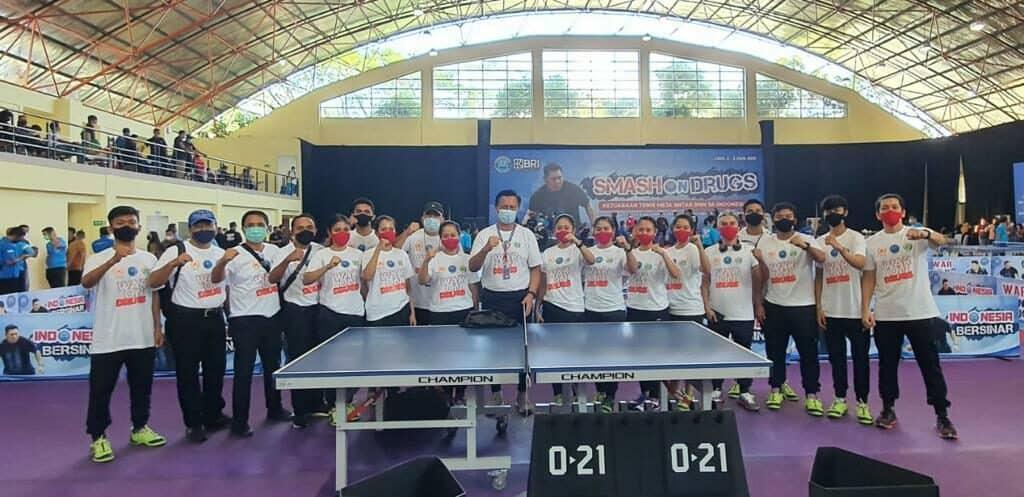 BNNP Bali Berpartisipasi Dalam Kejuaraan Smash On Drugs